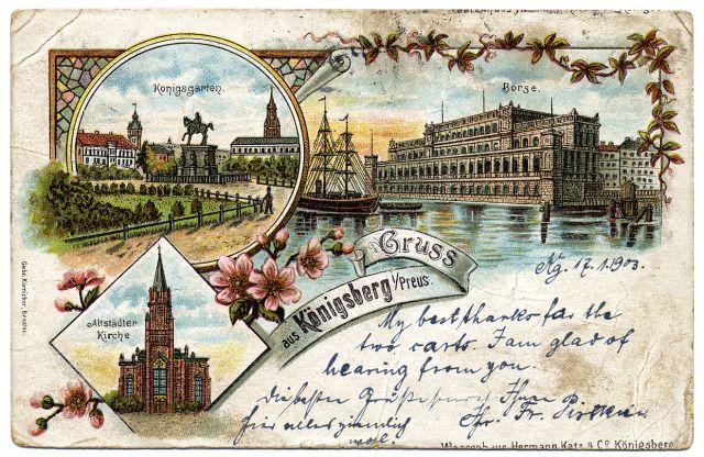 Открытки, старинная открытка города