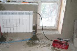Химическая промывка системы отопления. прочистка.