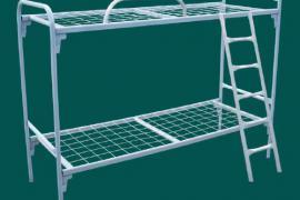 Кровати металлические для казарм, кровати двухъярусные оптом