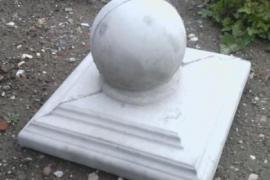 Крышки на столбы заборов навершия оголовники  калининград