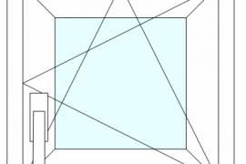 Окно пластиковое gealan (шестикамерное) 550*550
