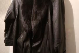 Пальто кожаное