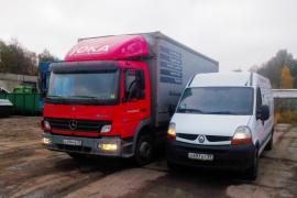 Перевозки м/автобусами и грузовиками до 6 т. грузчики.