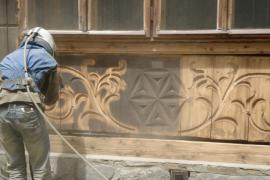 Струйно-абразивная обработка древесины в калининграде