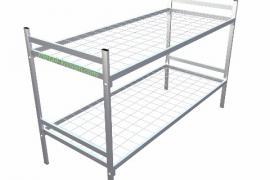 Железные двухъярусные кровати для бытовок, кровати дёшево.