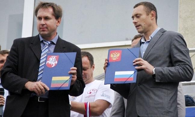 Подписание соглашения о партнёрстве между спортшколами Калининграда и Шяуляя