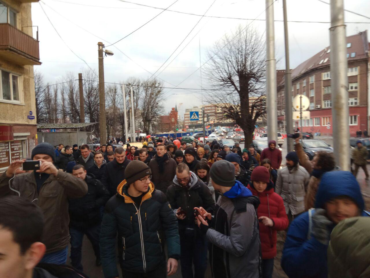 Намитинг Навального вКалининграде «снова никто непришел»