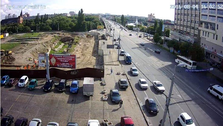 Вид на Ленинский проспект и эстакадный мост со стороны перекрёстка с ул. Шевченко