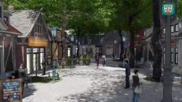 В парке Гурьевска решили обустроить торговую улицу, как в «восточно-европейском провинциальном городке»
