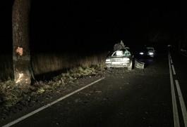 На трассе Калининград — Крылово автомобиль-«конструктор» въехал в дерево