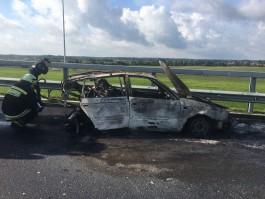 УМВД: Водитель сгоревшей на Приморском кольце машины находится в тяжёлом состоянии