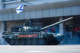 Танкисты Балтфлота провели учения в Калининградской области