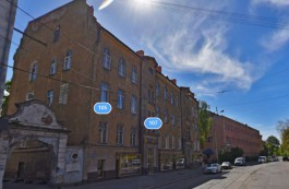 В Калининграде начался ремонт исторического дома с аркой на улице Багратиона