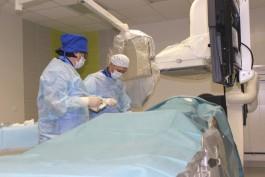 В сосудистом центре Гусева провели первую операцию