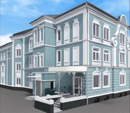 В центре Черняховска отремонтируют и украсят лепниной дом довоенной постройки