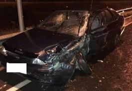На Северном обходе пьяный водитель БМВ устроил лобовое столкновение с «Тойотой»