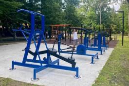 В парке Зеленоградска устанавливают четыре профессиональных тренажёра