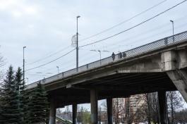 В Калининграде с четверга перекроют часть эстакадного моста из-за повреждённой балки