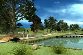 Власти Зеленоградска показали проект благоустройства парка «Тихие пруды»