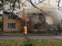 УМВД: Пожары в двух заброшенных домах в Калининграде могли устроить бомжи