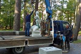Автор копии «Несущей воду» из парка в Светлогорске переделает скульптуру за свой счёт