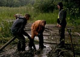 В Гурьевском округе полиция задержала группу чёрных копателей янтаря с мотопомпами