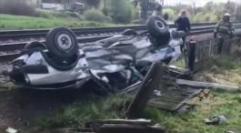 На ж/д переезде в Черняховском округе столкнулись легковушка и тепловоз: погибла пассажирка