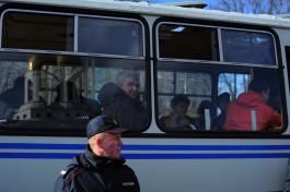 В Калининграде во время несанкционированного митинга против коррупции задержали около 10 человек