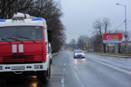 На улице Румянцева в Калининграде загорелась баня