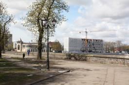 C улицы Черняховского в Калининграде убрали палатки с янтарём