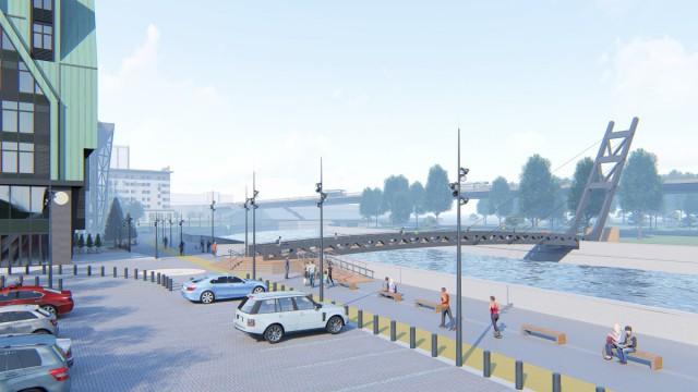 Строительство пешеходного моста на остров Канта в Калининграде в очередной раз перенесли