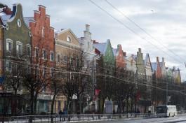 «Ганзейский забор»: в Калининграде открыли все дома на нечётной стороне Ленинского проспекта