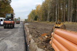 Подрядчик начал асфальтировать новую дорогу от Чкаловска до Окружной в Калининграде