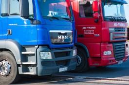 На въезде в Калининградскую область из Литвы скопились большие очереди из грузовиков