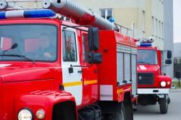 На стройплощадке поликлиники на Сельме в Калининграде произошёл пожар