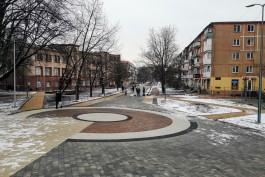 «Закруглили бульвар»: в Калининграде завершают реконструкцию улицы Рокоссовского