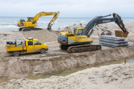 «Гребни против волны»: как в Зеленоградске укрепляют побережье