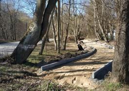 На территории парка в Отрадном начали строить велодорожку