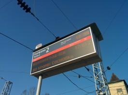 На трёх вокзалах в Калининградской области появились новые электронные табло
