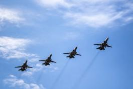 Над центром Калининграда снова проведут три тренировки воздушной части парада Победы