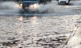 В Калининграде затопило улицу Нарвскую, отремонтированную в 2018 году