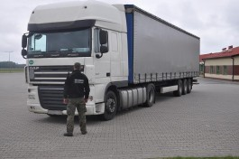 В Гжехотках задержали российскую фуру с перебитым VIN