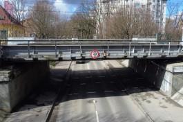 КЖД вернёт габаритные планки перед «мостом глупости» на Островского в Калининграде