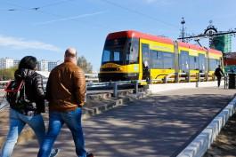 В Калининграде после восьмимесячного простоя вышел на линию трамвай PESA
