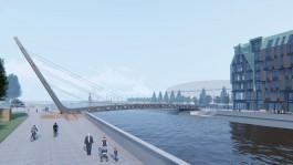 В Калининграде расторгают контракт на строительство пешеходного моста через Преголю