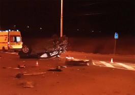 Ночью на Южном обходе Калининграда опрокинулся «Субару»: погибли два человека