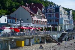 В Светлогорске закрыли опасный спуск к морю в районе отеля «Гранд Палас»