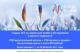 Месяц мужского здоровья: пройдите комплексное обследование у уролога-андролога всего за 800 рублей!