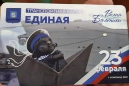 К праздникам в Калининграде выпустили 1000 транспортных карт с хомлинами