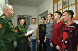 В 2019 году более трёх тысяч юношей в Калининградской области встанут на воинский учёт